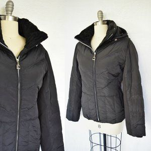 ZEROXPOSUR down ski parka puffer snow black jacket